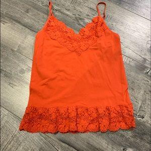 Orange lace cami